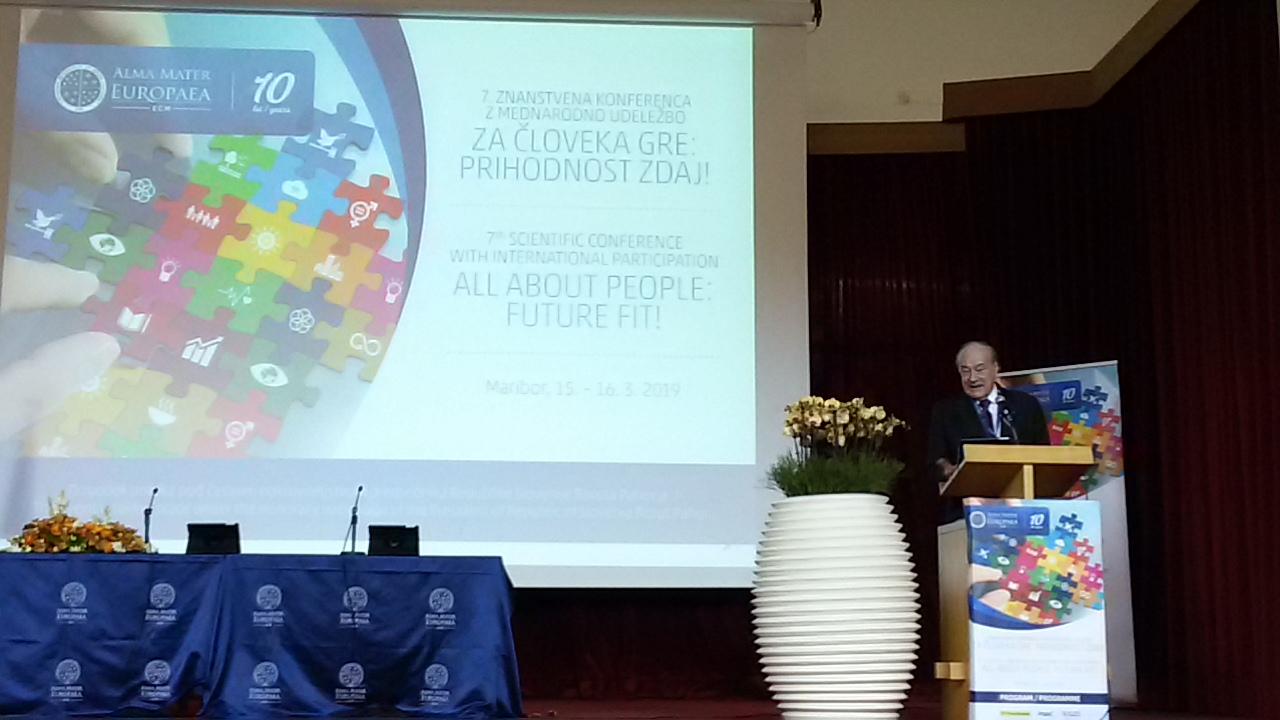Виступ президента Європейської академії наук і мистецтв проф. Фелікса Унгера на відкритті конференції